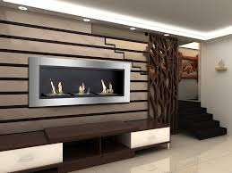 recessed ventless ethanol fireplace
