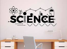 Science Wall Decal Vinyl Sticker School Education Home Office Etsy Classroom Interior Vinyl Wall Decals Grey Interior Doors