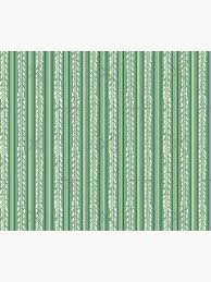 """Striped Ivy -Green"""" Duvet Cover by RenaInnocenti 