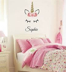 Sleeping Unicorn With Name Wall Decal Personalized Decals Girls Room Nursery Ebay