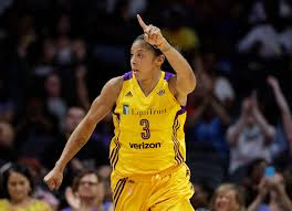 Watch Candace Parker of the LA Sparks block Diana Taurasi in Game 2 –  Orange County Register