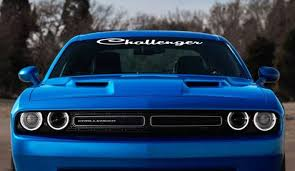 Dodge Challenger Script Windshield Banner Decal Sticker Aftermarket Replacement Non Factory Custom Sticker Shop