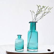 mkono blue flower vase decorative art