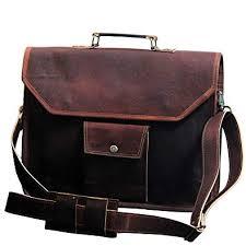15 inch retro leather messenger