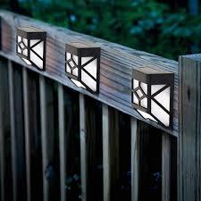 Solalite Decorative Wireless Garden Solar Lights Weatherproof Outdoor Fence Lamps 8 Pack Amazon Co Uk Lighting