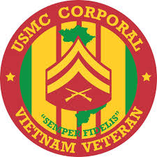 Amazon Com Military Vet Shop Usmc Corporal Vietnam Veteran Window Bumper Sticker Decal 3 8 Automotive