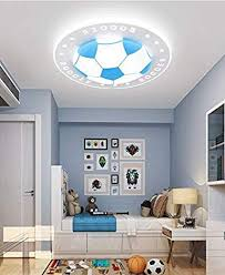 Litfad Soccer Patterned Dimmable Led Ceiling Light 20 5 Creative Ceiling Fixture In Blue For Kid S Bedroom Living Room Children S Room Kids Bedroom Ul Listed Amazon Com