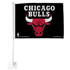 Chicago Bulls Car Flag 15in X 11in Party City