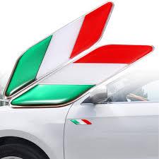 Flag Of Italy Car Sticker 1 3 8 X 1 3 4 Italian Decal Vinyl Emblem Badge Rainbowlands Lk