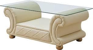 ivory top grain leather sofa set 4pcs w