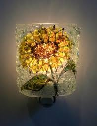 sunflowerreborn glass night light