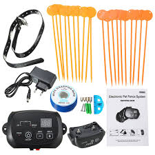 Dog Friendly Wireless Electric Pet Dog Fence Containment System Waterproof Transmitter Safety Shock Collar System Walmart Canada