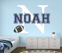 Amazon Com Custom Football Name Wall Decal Baby Room Decor Nursery Wall Decals Sports Wall Decor Vinyl 30wx22 Baby