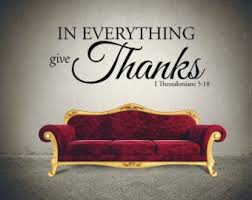 In Everything Give Thanks Thanksgiving Wall Decal I Etsy Christian Wall Decals Inspirational Decals Bible Wall Decals