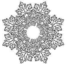 Anti Stress Kleurplaten Herfst Mandala Bladeren 4