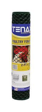 Tenax 2 Ft H X 25 Ft L 20 Ga Green Poultry Fence Walmart Com Walmart Com