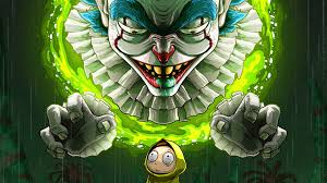pennywise clown rick and morty 4k