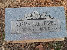 Norma Rae Hans Leaver (1937-1993) - Find A Grave Memorial
