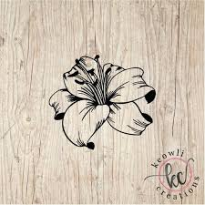Lily Flower Vinyl Decal Style 03 Etsy