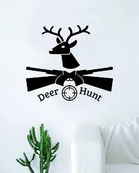 Amazon Com Boop Decals Deer Hunt Wall Decal Sticker Vinyl Art Bedroom Living Room Decor Decoration Teen Quote Inspirational Boy Girl Sports Hunting Hunter Knife Shoot Paw Animals Camo Home Kitchen