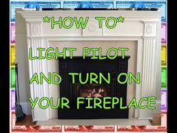 pilot light how to light a fireplace