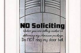 No Soliciting Sticker Decal Business Home Door Window Wall Sign Vinly Decals