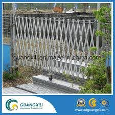 China Galvanized Aluminum Safety Retractable Gate Fence China Aluminum Crowd Control Barrier Fence Gate