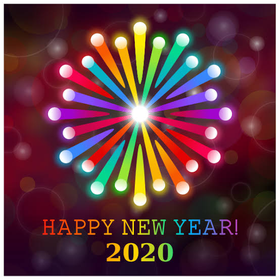 Image result for happy new year 2020 rainbow""