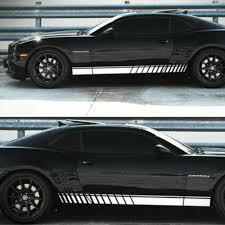 Sticker Set Decal Vinyl Side Door Stripes For Chevrolet Camaro Racing Spoiler Rt Tu 887972 Car Stickers Aliexpress