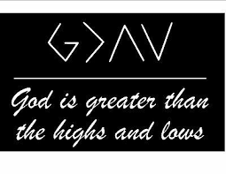 God Is Greater Than The Highs And Lows Vinyl Car Laptop Decal Sticker Christian Ebay