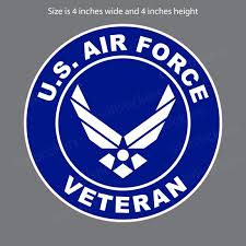 Air Force Veteran Military Wings Usaf Bumper Sticker Window Decal