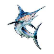 Blue Marlin Fish Charter Boat Truck Window Decal