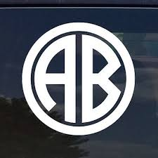 Handmade Products Stickers Customize Any Letter To Personalize Cups Car Windows Monogram Initial Anchor Decal Sticker Gloss Outdoor Vinyl In Many Colors