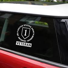 Tancredy Car Styling Decals 1st Infantry Division Army Veteran Car Decals Window Laptop Stickers Car Motorcycle Accesseries Sticker Car Car Decalcar Sticker Aliexpress