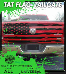 Tattered Us Flag Truck Distressed American Flag Decals Ripped Usa Tailgate Graphics Premium 3m Vinyl Decal Kit Truck Decals Custom Graphics For Muscle Cars Elite Limit