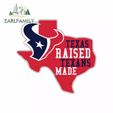 Earlfamily 13cm X 8 9cm For Texas Raised Texans Made Map Funny Car Stickers And Decals Vinyl Waterproof Laptop Car Accessories Car Stickers Aliexpress