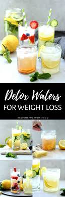 4 detox water recipes for weight loss