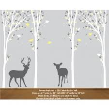 Deer Forest Decal For Gender Neutral Nursery