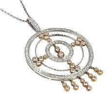 white gold 3ct tdw diamond medallion