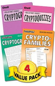 crypto puzzles a twist showcase value pack penny dell puzzles