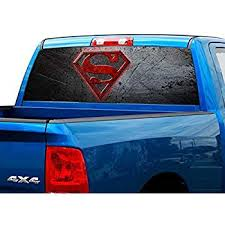 P502 Superman Rear Window Tint Graphic Decal Wrap Back Pickup Graphics Auto Parts And Vehicles Moonnepal Com