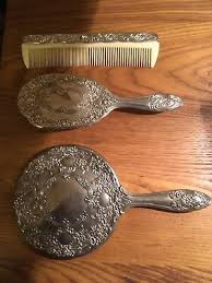 brush comb mirror set sterling silver