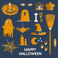 Orange Halloween Elements Download Free Vectors Clipart Graphics Vector Art