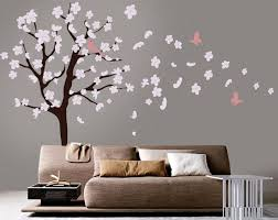 Tree Wall Decal White Cherry Blossom Wall Decal Cherry Etsy