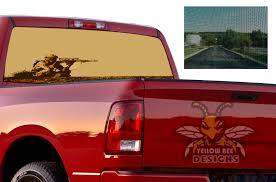 Usa Sniper Perforated Sticker Dodge Ram 3500 Sun Protection Decals