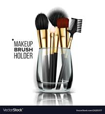 gl holder cosmetic beauty vector image