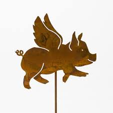 P444 Flying Pig Pick Elegant Garden Design