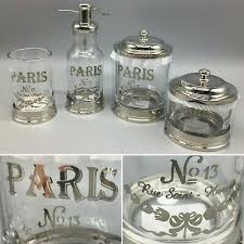 bella lux bath accessory set paris soap