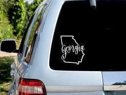 Georgia Decal Georgia Sticker Georgia Car Decal Georgia Car Etsy
