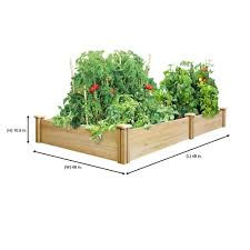 Greenes Fence 4 Ft X 8 Ft X 10 5 In Original Cedar Raised Garden Bed Rc6t21b The Home In 2020 Cedar Raised Garden Beds Raised Garden Bed Kits Raised Garden Beds
